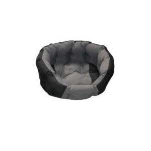 Blød rund hundeseng sort