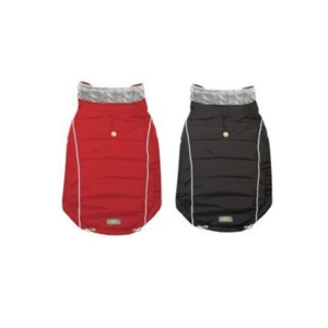 Vinter hundejakke i sort eller rød
