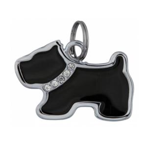 Hundetegn med diamanter