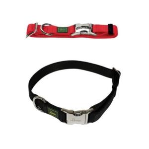 Rødt og sort hundehalsbånd