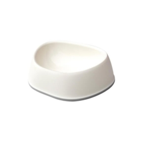 Hvid plast katteskål