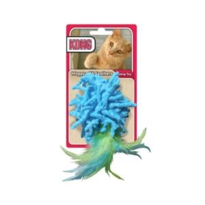 Kong moppy med fjer til kat