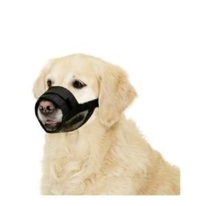 Sort mundkurv til hund i nylon