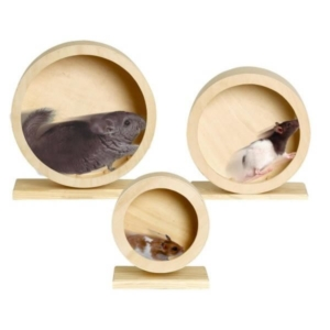 Træ løbehjul til hamster og gnaver