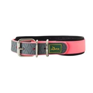 Pink halsbånd til hund