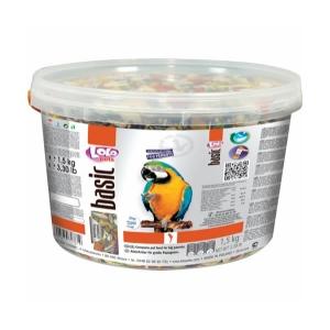 Basic papegøjefoder i spand 1,5kg