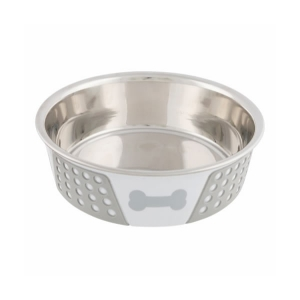 hvid foderskål til hund