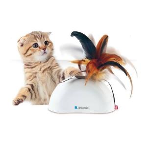 Petdroid med fjer kattelegetøj