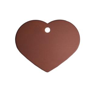Bronze hundeskilt som hjerte