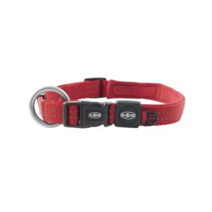 Rødt hundehalsbånd