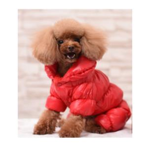 Varm hundejakke i rød